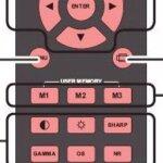PLANAR 8150 remote