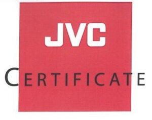 JVC CERTIFICATE